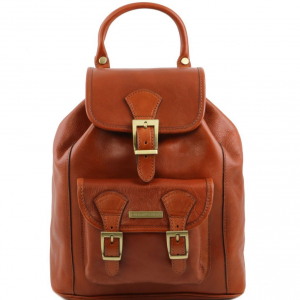 Tuscany Leather TL141342 Kobe - Leather Backpack Honey