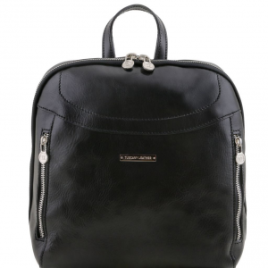 Tuscany Leather TL141557 Manila - Zaino in pelle Nero