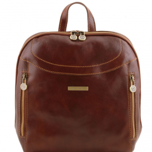 Tuscany Leather TL141557 Manila - Leather backpack Brown