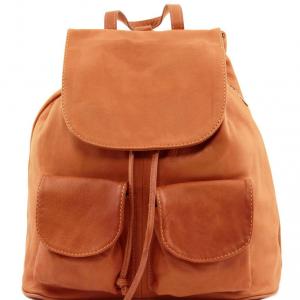 Tuscany Leather TL141507 Seoul - Zaino in pelle morbida - Misura grande Cognac
