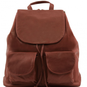 Tuscany Leather TL141507 Seoul - Leather backpack Large size Brown