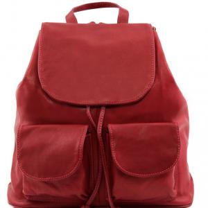 Tuscany Leather TL141507 Seoul - Zaino in pelle morbida - Misura grande Rosso