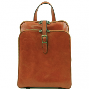 Tuscany Leather TL141239 Taipei - 3 Compartments leather backpack Honey