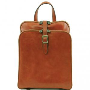 Tuscany Leather TL141239 Taipei - Zaino in pelle con tre scomparti Miele