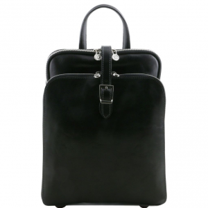 Tuscany Leather TL141239 Taipei - 3 Compartments leather backpack Black