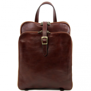 Tuscany Leather TL141239 Taipei - 3 Compartments leather backpack Brown