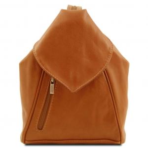Tuscany Leather TL140962 Delhi - Zaino in pelle morbida Cognac