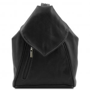 Tuscany Leather TL140962 Delhi - Zaino in pelle morbida Nero