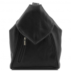 Tuscany Leather TL140962 Delhi - Leather backpack Black
