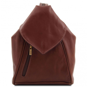 Tuscany Leather TL140962 Delhi - Leather backpack Brown