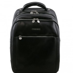 Tuscany Leather TL141402 Phuket - Zaino porta notebook in pelle 3 scomparti Nero