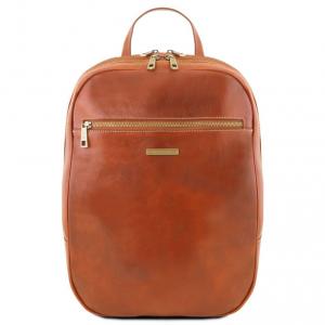 Tuscany Leather TL141711 Osaka - Leather laptop backpack Honey