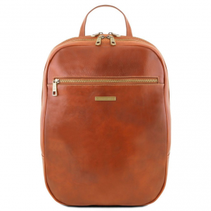 Tuscany Leather TL141711 Osaka - Leather laptop backpack Honey