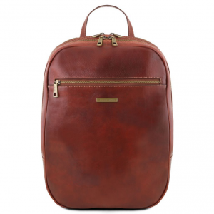 Tuscany Leather TL141711 Osaka - Leather laptop backpack Brown