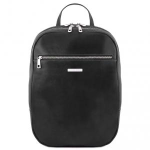 Tuscany Leather TL141711 Osaka - Leather laptop backpack Black