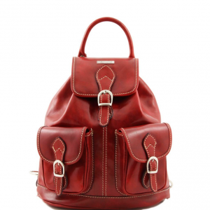 Tuscany Leather TL9035 Tokyo - Leather Backpack Red