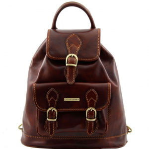 Tuscany Leather TL9039 Singapore - Leather - Backpack Brown