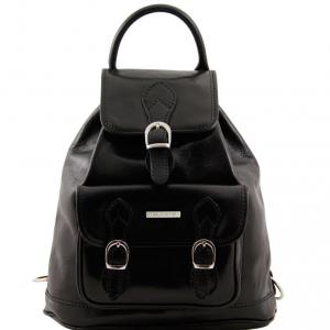 Tuscany Leather TL9039 Singapore - Leather - Backpack Black