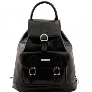 Tuscany Leather TL9039 Singapore - Sac à dos en cuir Noir