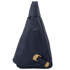 Tuscany Leather TL140966 Hanoi - Zaino in pelle morbida Blu scuro