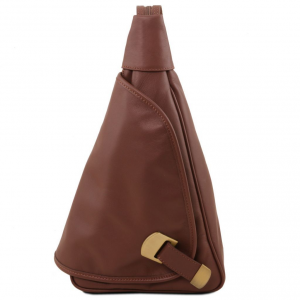 Tuscany Leather TL140966 Hanoi - Leather backpack Brown