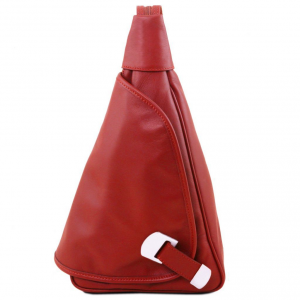 Tuscany Leather TL140966 Hanoi - Leather backpack Red