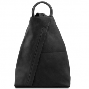 Tuscany Leather TL140963 Shanghai - Leather backpack Black
