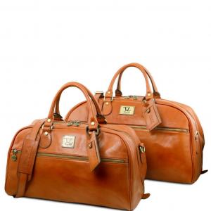 Tuscany Leather TL141258 Magellan - Leather travel set Honey