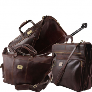 Tuscany Leather TL141078 Luxurious - Travel set Dark Brown