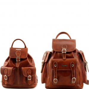 Tuscany Leather TL90173 Trekker - Ensemble de voyage sacs à dos en cuir Miel