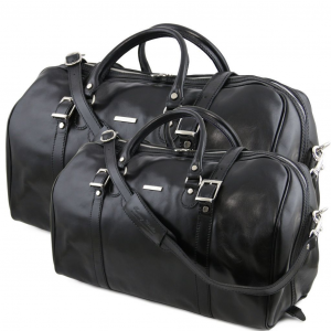 Tuscany Leather TL10175 Berlin - Leather travel set Black