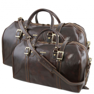 Tuscany Leather TL10175 Berlin - Leather travel set Dark Brown