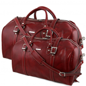 Tuscany Leather TL10175 Berlin - Leather travel set Red