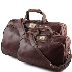 Tuscany Leather TL3072 Bora Bora - Ensemble de voyage en cuir Marron