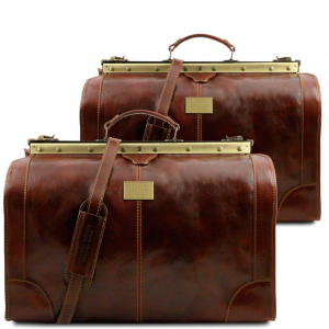 Tuscany Leather TL1070 Madrid - Ensemble de voyage en cuir Marron