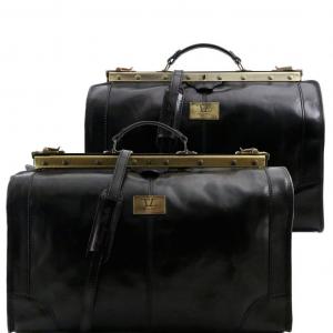 Tuscany Leather TL1070 Madrid - Ensemble de voyage en cuir Noir