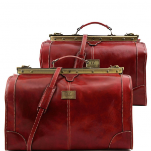 Tuscany Leather TL1070 Madrid - Ensemble de voyage en cuir Rouge