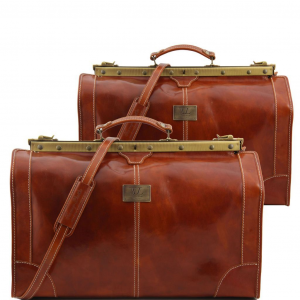 Tuscany Leather TL1070 Madrid - Ensemble de voyage en cuir Miel