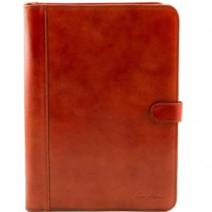 Tuscany Leather TL141275 Adriano - Porte documents en cuir avec fermerture à bouton Miel