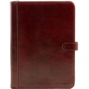 Tuscany Leather TL141275 Adriano - Porte documents en cuir avec fermerture à bouton Marron