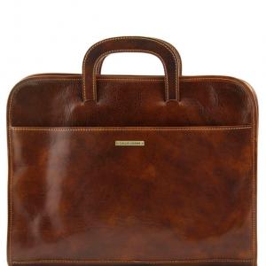 Tuscany Leather TL141022 Sorrento - Serviette Porte-documents en cuir Marron