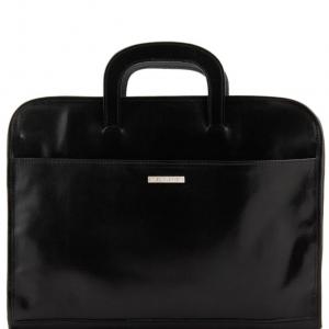 Tuscany Leather TL141022 Sorrento - Cartella portadocumenti in pelle Nero