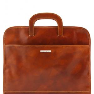 Tuscany Leather TL141022 Sorrento - Serviette Porte-documents en cuir Miel