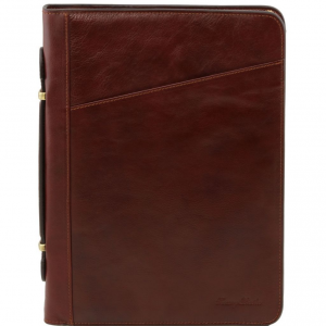 Tuscany Leather TL141404 Claudio - Exclusif conférencier en cuir avec poignée Marron