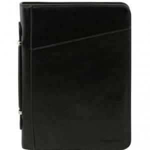 Tuscany Leather TL141404 Claudio - Exclusif conférencier en cuir avec poignée Noir