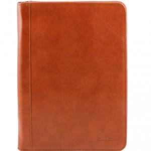 Tuscany Leather TL141287 Luigi XIV - Leather document case with zip closure Honey