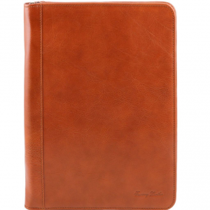 Tuscany Leather TL141287 Luigi XIV - Portadocumenti con cerniera Miele