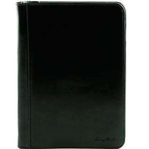 Tuscany Leather TL141287 Luigi XIV - Portadocumenti con cerniera Nero