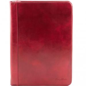 Tuscany Leather TL141287 Luigi XIV - Portadocumenti con cerniera Rosso