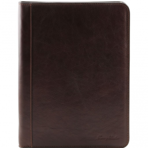 Tuscany Leather TL141293 Lucio - Exclusive leather document case with ring binder Dark Brown